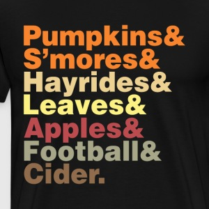 Fun Fall Helvetica - Men's Premium T-Shirt