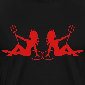 Two Devil Mudflap Girls