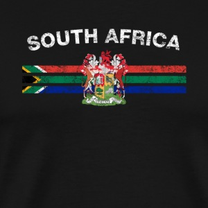 South African Flag Shirt - South African Emblem & - Men's Premium T-Shirt