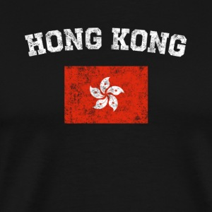Hong Kong Chinese Flag Shirt - Vintage Hong Kong T - Men's Premium T-Shirt