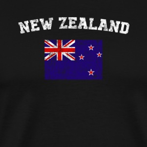 New Zealander Flag Shirt - Vintage New Zealand T-S - Men's Premium T-Shirt