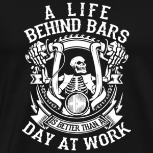 Halloween A Life Behind Bars Day At Work Shirt - Men's Premium T-Shirt
