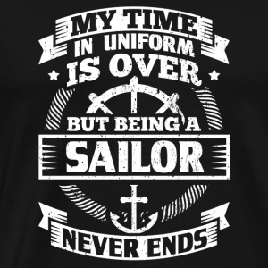 Funny Sail Sailing Sailor Shirt Time Uniform - Men's Premium T-Shirt