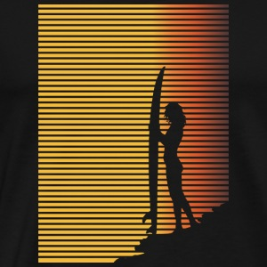 Surfer Girl Silhouette - Men's Premium T-Shirt