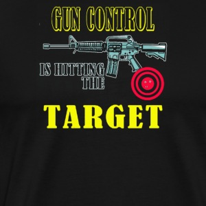 Gun Control is hitting the target - Men's Premium T-Shirt