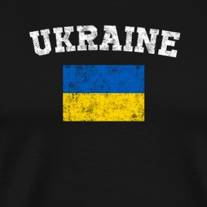 Ukrainian Flag Shirt - Vintage Ukraine T-Shirt - Men's Premium T-Shirt
