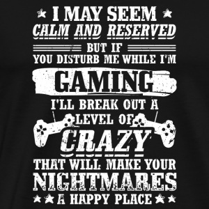 Funny Gamer Gaming Shirt Reserved - Men's Premium T-Shirt