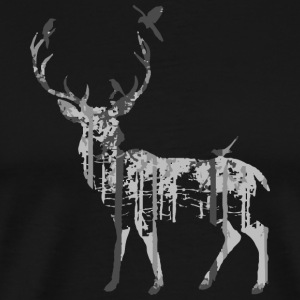Deer Forest Birds - Men's Premium T-Shirt