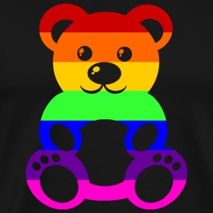 Gay Pride Teddybear - Men's Premium T-Shirt