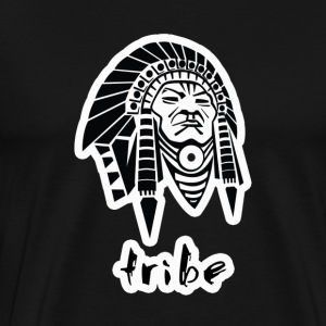 Tribe No. 3 (Native American w/Outline) - Men's Premium T-Shirt