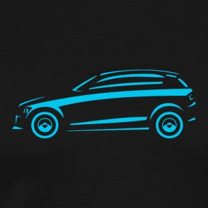 Hatchback-car in side view - Men's Premium T-Shirt