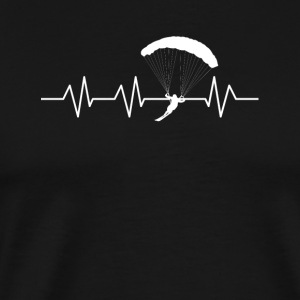 Heartbeat for Parachuting - Men's Premium T-Shirt