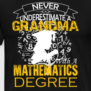 Mathematics Grandma Shirt - Men's Premium T-Shirt