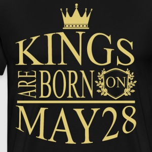 Kings are born on May 28 - Men's Premium T-Shirt