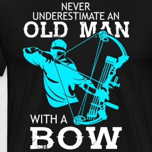 Old Man With A Bow T Shirt - Men's Premium T-Shirt
