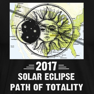 2017 Solar Eclipse Path Of Totality Map The USA - Men's Premium T-Shirt