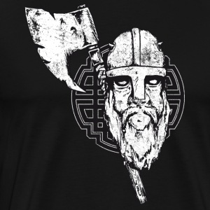 viking with axe crashed - Men's Premium T-Shirt