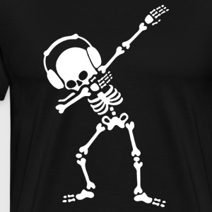 Dabbing Skeleton Dabbin Dab Hip hop funny Hallowee - Men's Premium T-Shirt