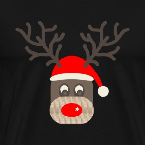 Red Nose Reindeer - Men's Premium T-Shirt