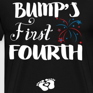 Bump s First Fourth For Pregnant Lady Wear It On I - Men's Premium T-Shirt