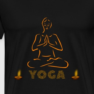 Yoga and meditation - Men's Premium T-Shirt