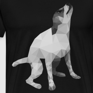 Low Poly Dog - Men's Premium T-Shirt