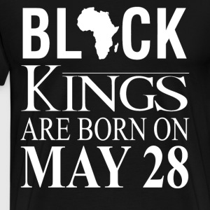 Black kings born on May 28 - Men's Premium T-Shirt