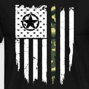 Veteran shirts: American Flag Veteran T-Shirt - Men's Premium T-Shirt