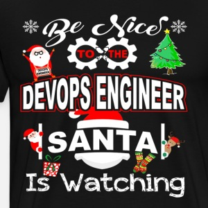 Funny Christmas Shirt Be Nice To The Devops Engine