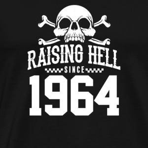 Raising Hell Since 1964 Biker - Men's Premium T-Shirt