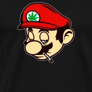Mario Smoking Marijuana Weed - Men's Premium T-Shirt