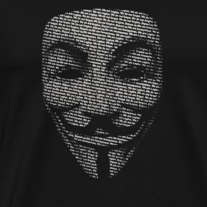 V FOR VENDETTA MASK GUY FAWKES COOL GIRLS WOMENS C - Men's Premium T-Shirt