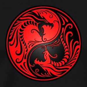 Yin Yang Dragons Red and Black