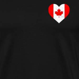 Canada Flag Shirt Heart - Canadian Shirt - Men's Premium T-Shirt