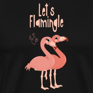 Lets Flamingle - Flamingo - Men's Premium T-Shirt