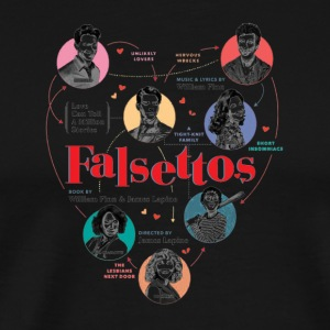 Falsettos 2016 Poster - Men's Premium T-Shirt