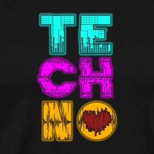 Techno love - Men's Premium T-Shirt