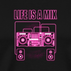 Life is a mix music - Men's Premium T-Shirt