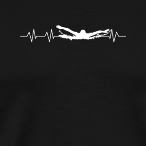 Heartbeats for Swimming - Men's Premium T-Shirt