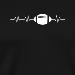 Heartbeats for Football - Men's Premium T-Shirt