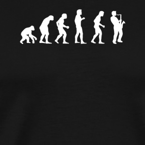 Evolution of saxophone player - Men's Premium T-Shirt