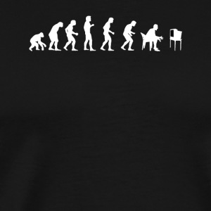 Human Evolution Watching Television - Men's Premium T-Shirt