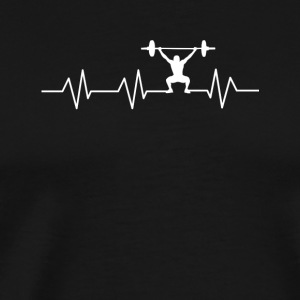 Heartbeat for Weightlifting - Men's Premium T-Shirt