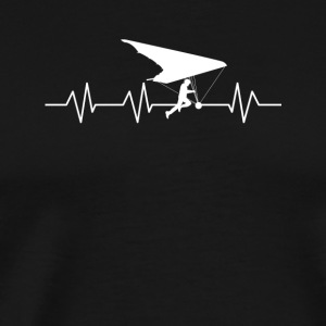 Heartbeat for Hang Gliding - Men's Premium T-Shirt