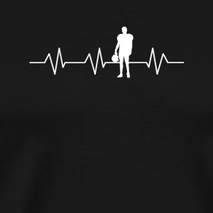 Heartbeat for Football - Men's Premium T-Shirt