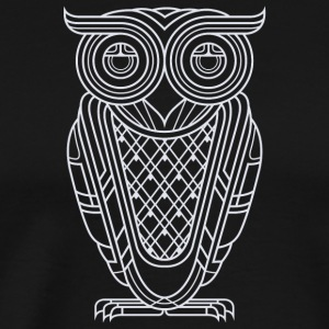 Art Deco Owl Nocturnal - Men's Premium T-Shirt