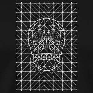 Triangles and Line Art Skull - Men's Premium T-Shirt