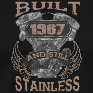 Built and even stainless biker born 1967 - Men's Premium T-Shirt
