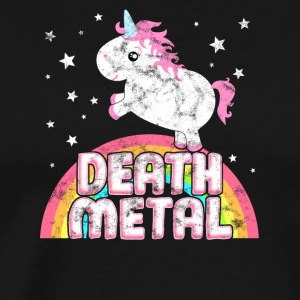 Ironic Death Metal Music Festival Party Unicorn - Men's Premium T-Shirt