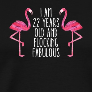Fabulous 22nd Birthday Women Pink Flamingo 22 Year - Men's Premium T-Shirt